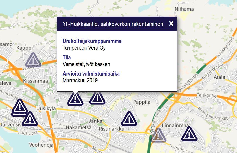 Tampereen Sahkolaitos Rakennetaan